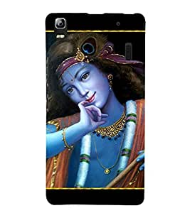 Lord Krishna 3D Hard Polycarbonate Designer Back Case Cover for Lenovo A7000 :: Lenovo A7000 Plus :: Lenovo K3 Note