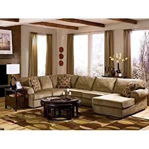 Vista - Cappuccino Sofa Sectional Living Room Set by Ashley Furniture