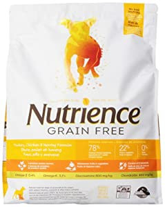 Nutrience Grain Free Dog Food, 18-Pounds, Turkey, Chicken and Herring