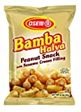Osem Bamba Halvah  Peanut Snack With Sesame Cream Filling, 2.1-Ounce (Pack of 18)