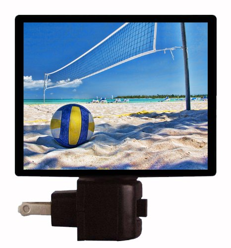 Volleyball Night Light - Vollyball And Net On Beach Led Night Light