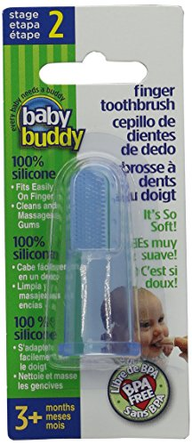 Baby Buddy Finger Toothbrush, Blue