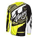 JT RACING ジェイティーレーシング FLEX VICTORY Jersey 2017モデル ジャージ 上下セット ブラック/ネオン/イエロー M-32(81cm)