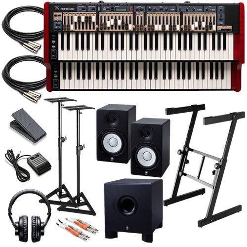 Nord C2D Drawbar Organ Studio Bundle W/ Monitors, Subwoofer & Stands