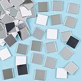Selbstklebende Mosaik-Spiegelkacheln - 100 Stück
