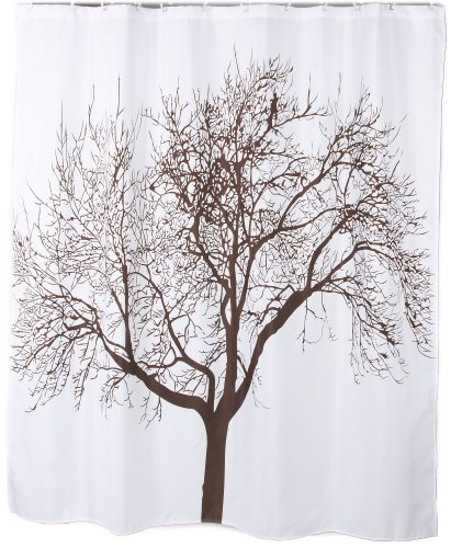72 polyester fabric brown tree shower curtain curtain store