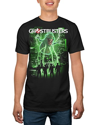 Official Ghostbusters Slimed Adult T-shirt - Black - S to XXXL