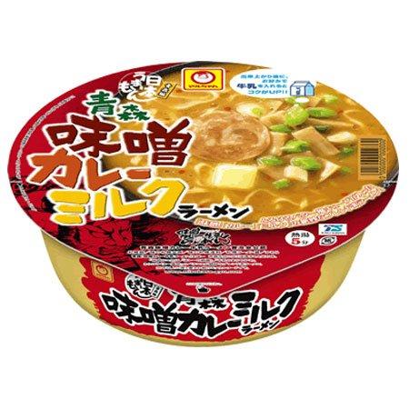 【東北限定】 東洋水産/マルちゃん 青森味噌カレーミルクラーメン 131g(めん70g) 12個入 1ケース