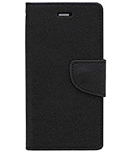 Zocardo Fancy Diary Wallet Flip Case Cover for Gionee Pioneer P4 - Black - Premium Cover with Inner Pocket