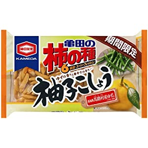 亀田製菓 亀田の柿の種柚子こしょう6袋詰 192g×6袋