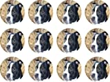 Staffordshire bull terrier (Red) #edible cake toppers (12 of 38mm 1.5inch) #242