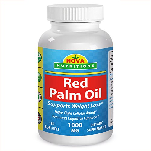 Nova Nutritions Red Palm Oil 1000 mg 180 Softgels (Red Palm Oil Capsules compare prices)