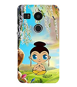 iFasho Lord Budha animated Back Case Cover for Huawei Google Nexus 6P