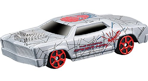 MARVEL UNIVERSE MAISTA ROOSEWOOD SILVER CHROME SPIDER-MAN DIE-CAST COLLECTION VEHICLE