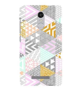 Triangular Pattern 3D Hard Polycarbonate Designer Back Case Cover for Xiaomi Redmi Note 3 :: Xiaomi Redmi Note 3 (3rd Gen)