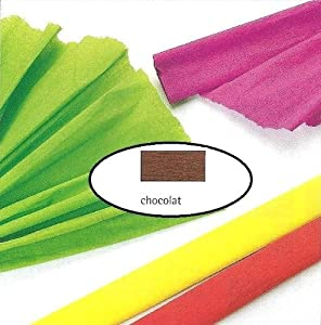 Papier crépon, 30g/m2 - Chocolat