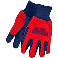 Buy NCAA McArthur Mississippi Rebels Two-Tone Utility Gloves - Cardinal Royal Blue by McArthur