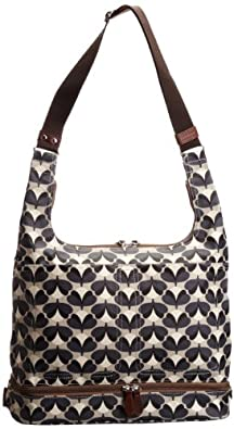 Orla Kiely Womens Baby And Changing Mat Cross-Body Bag Graphite