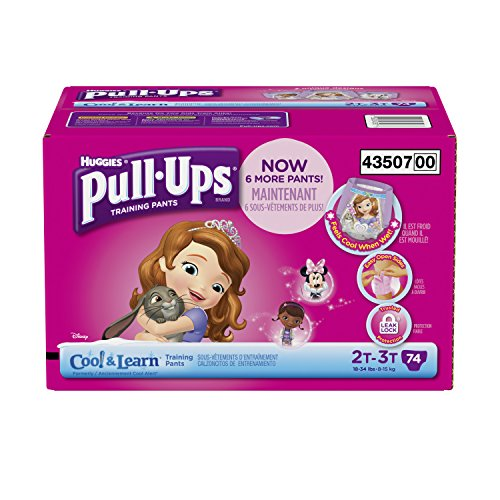 Huggies Pull-Ups Training Pants with Cool and Learn for Girls, Size 2T-3T, 74 Count (Cool Alert Training Pants compare prices)