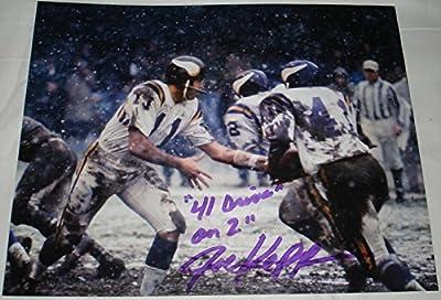Joe Kapp Hand Signed / Autographed Minnesota Vikings 8 x 10 Photo - 1