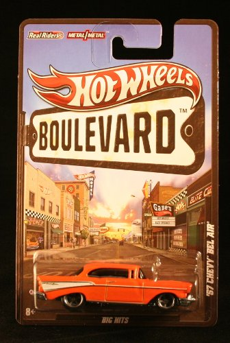 2012 Hot Wheels Boulevard Big Hits '57 CHEVY BEL AIR 1:64 Scale Diecast Real Riders (Air Rider compare prices)