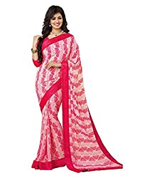 My online Shoppy Georgette Saree (My online Shoppy_65_Pink)