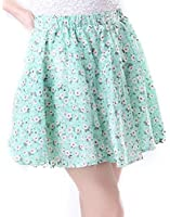 HDE Women Fashion Solid Color Jersey Knit Flared A-Line Mini Skater Circle Skirt