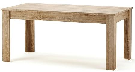 Table à manger rectangulaire en bois, 160 x 90 cm NAXIS Coloris chêne brossé -PEGANE-