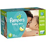 Pampers Baby Dry Diapers Giant Pack, Size 4, 128 Count