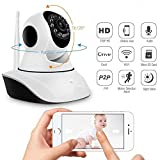 #4: IP Camera For Home Office Store | Wireless Dome Pan/Tilt with 2-Way Audio and Motion Detection | 720p HD Wi-Fi Security Surveillance System | Night Vision Support Micro SD Card Slot and LAN Port | Easy Remote Access for Android and iOs Smartphones and Tablets | CCTV Cameras For Indoor Outdoor Use | Wifi Stream Live Video in Mobile or Laptop | 4x Digital Zoom | Two-Way Dual Antenna Monitor With 2 Way Chat