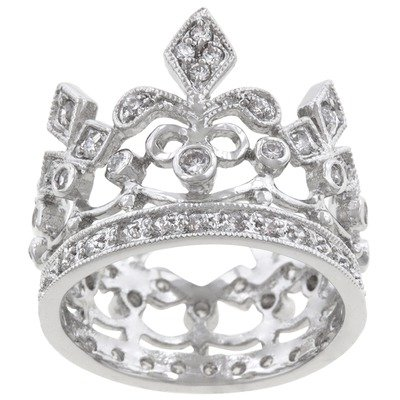 Clear Cubic Zirconia Queen Royalty Eternity Ring Size: 9