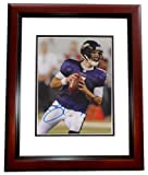 Joe Flacco Autographed / Hand Signed Baltimore Ravens 8x10 Photo MAHOGANY CUSTOM FRAME at Amazon.com