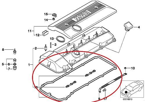 Bmw E46 325i 330i Valve Cover Gasket Set Johnny S