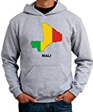 Mali Country Map Color メンズパーカー