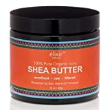 Elixir Naturel Best Organic Ivory African Shea Butter - 100% Natural Pure Grade A Unrefined Raw - Great Moisturizer for Skin & Hair - Excellent for DIY Products - Large 16 oz. Jar