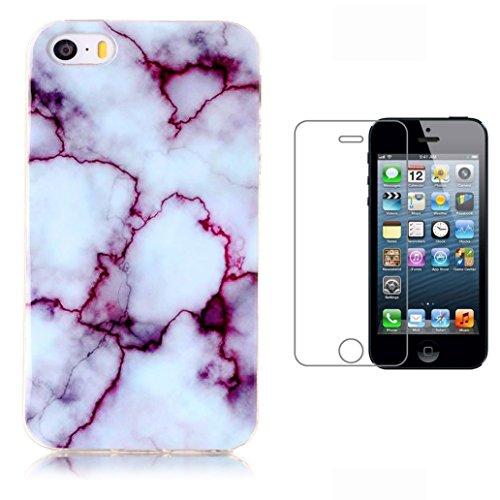 custodia-iphone-se-5-5s-pellicola-protettiva-in-vetro-temperato-yooweir-classical-fashion-marble-tex