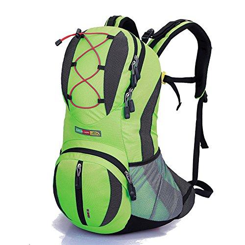 Diamond Candy Zaino da Trekking Outdoor Donna e Uomo con Protezione Impermeabile per alpinismo arrampicata equitazione ad Alta Capacitš€ borsa da viaggio,Multifunzione,22 litri Verde