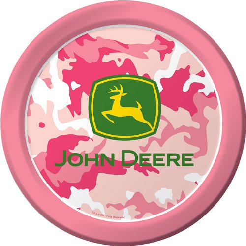 John Deere Pink Dinner Plates (8 per package)