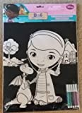Disney Junior Doc Mcstuffins Velvet Coloring Sheet With Markers