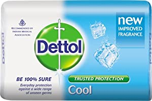 Dettol Soap Value Pack, Cool - (3 Pieces X 125 g)