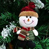 Generic Deer : Santa Claus Snow Man Reindeer Doll Christmas Decoration Xmas Tree Hanging Ornaments Pendant Kids...