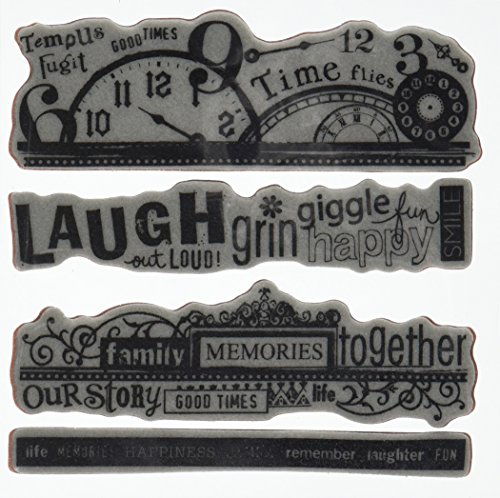 Hampton Art Word Borders Rubber Stamp