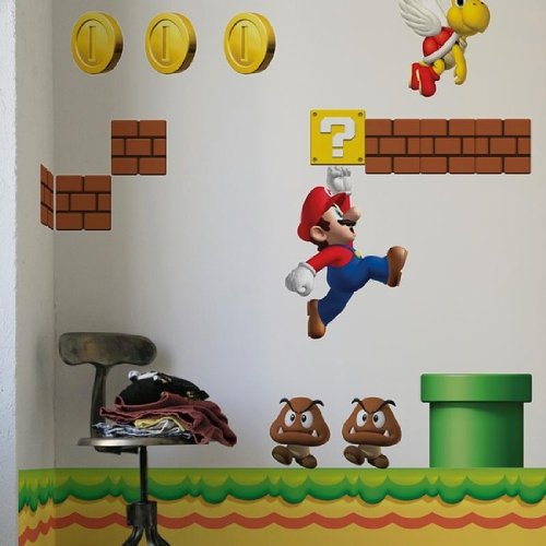 Super Mario Brothers Wall Sticker Decals Video Game