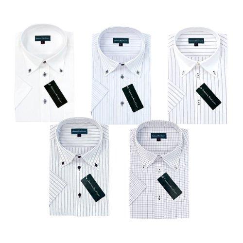 (グリニッジ ポロ クラブ) GREENWICH POLO CLUB 半袖 ビジネスワイシャツ 形態安定 モノトーン半袖 5枚セット(L-41)