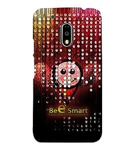 Bee Smart 3D Hard Polycarbonate Designer Back Case Cover for Motorola Moto G4 Plus :: Moto G4+ :: Moto G4