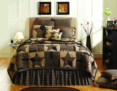 Bingham Star 4 Piece King Quilt Set front-1070042