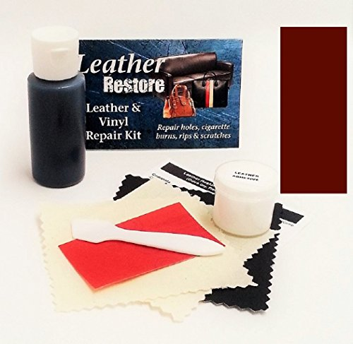 Leather Repair Kit with READY TO USE Color, DARK MAHOGANY (Pleather Repair Kits For Couches compare prices)