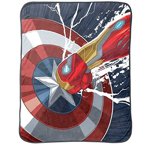 Marvel Captain America 'Civil War' Plush Throw, 50