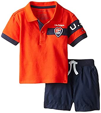 Tommy Hilfiger Baby Boys Athlete Pique Polo and Short Set