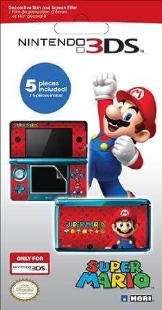Nintendo 3DS - Bildschirm-Schutzfolie + Super Mario Motiv
